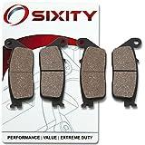 Sixity Front Organic Brake Pads 2001-2006 Honda CBR600F F4I Set Full Kit Sport Complete