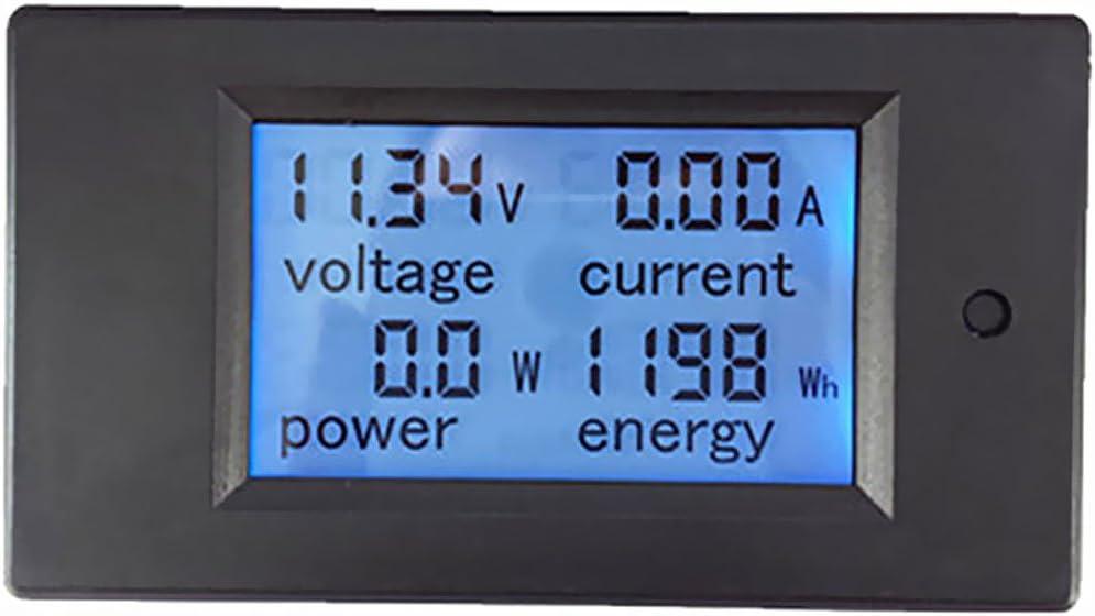 Milageto Voltm/ètre Amp/èrem/ètre DC 6.5-100V 20A Digital LED Amp Volt Power Energy Meter