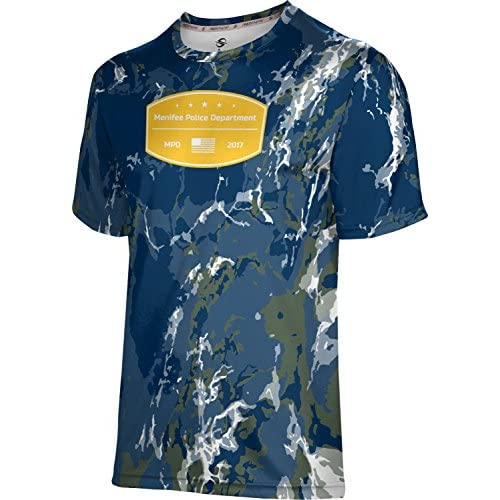 discount ProSphere Boys\' Menifee Police Department Marble Shirt (Apparel) 6K3Jth7C