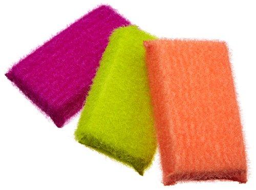 Casabella Scrub Sponge, 3-Pack, Assorted Colors (11395)
