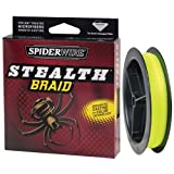 Spiderwire Stealth Braid 300-Yard Spool (Hi-Vis Yellow, Pound/Diameter 8/1.5) For Sale