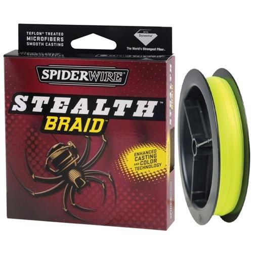 Spiderwire Stealth Braid 300-Yard Spool (Hi-Vis Yellow, Pound/Diameter 8/1.5)