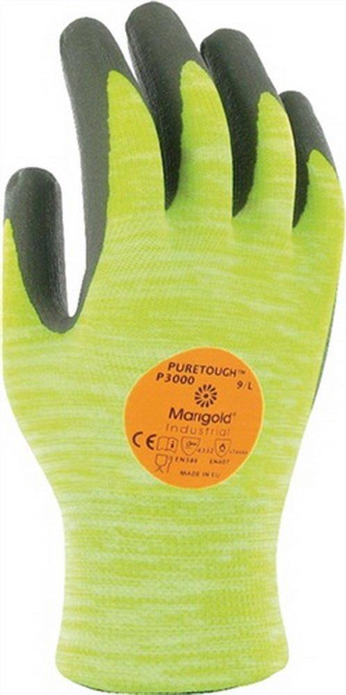Handschuh EN388/407 Kat.II HyFlex 11-423 Gr. 9 Strick mit PU-/Nitril, 12 Paar