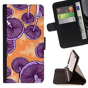 - Purple Drugs Psychedelic Psilocybin - - Prima caja de la PU billetera de cuero con ranuras para tarjetas, efectivo desmontable correa para l Funny HouseFOR LG G2 D800