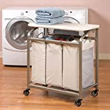 Vancouver Classics Laundry Sorter with Folding Table