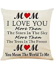 هدية عظيمة لأمي أنا أحبك غطاء وسادة القضية ، أفضل الهدايا الأفكار لأمي يوم عيد الأم ، هدية شخصية من الشعر للأم ، هدية عيد الشكر الأم ، 45.72 × 45.72 سم