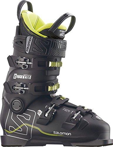 Freeride Ski Boots - Salomon X Max 130 Ski Boot Black/Metallic Black/Acide Green, 27.5