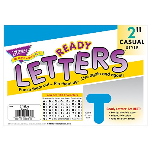 Trend Enterprises Casual Ready Letters, 142 per Package, 2
