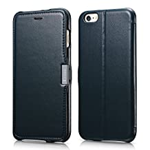 """iPhone 6 Plus Case, Benuo [Luxury Series] 100% Genuine Leather Case with 1 Card Slot & Stand for 5.5"""" iPhone 6 Plus (2014) Only - (Navy Blue)"""