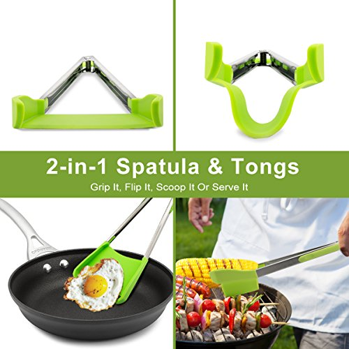 Spatula and Tongs Kitchen Gadget Tool