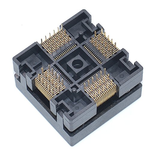 ALLSOCKET QFP64-0.5 Socket IC Burn-in Tesing Socket OTQ-64-0.5-01 0.5mm Pitch 10x10mm IC Dimension Open-top Socket Soldering Version(QFP64-0.5-STP) by ALLSOCKET (Image #4)