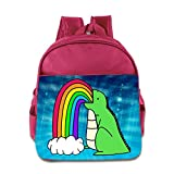 Logon 8 Rainbow Dinosaur Cartoon Fashion Backpacks Pink For 3-6 Years Olds Baby
