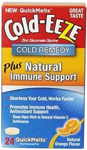 Cold-Eeze Immune Support Quick Melt Tablets, Natural Orange Flavor, 24 Count