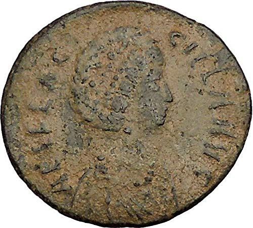 383 IT AELIA FLACILLA w SCROLL Theodosius I Wife 383AD C coin Good ()