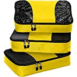 eBags Medium Packing Cubes for Travel - 3pc Set - (Canary)
