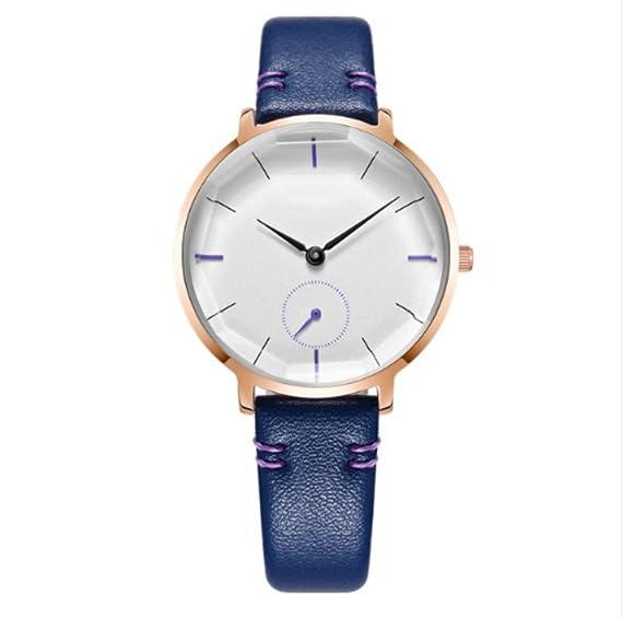 Reloj de pulsera para mujer 2018 con reloj de cuarzo resistente al agua para mujer, color azul: Amazon.es: Relojes