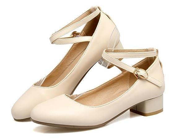 cd481db17196c Aisun Femme Rétro Basses Boucles Escarpins  Amazon.fr  Chaussures et Sacs