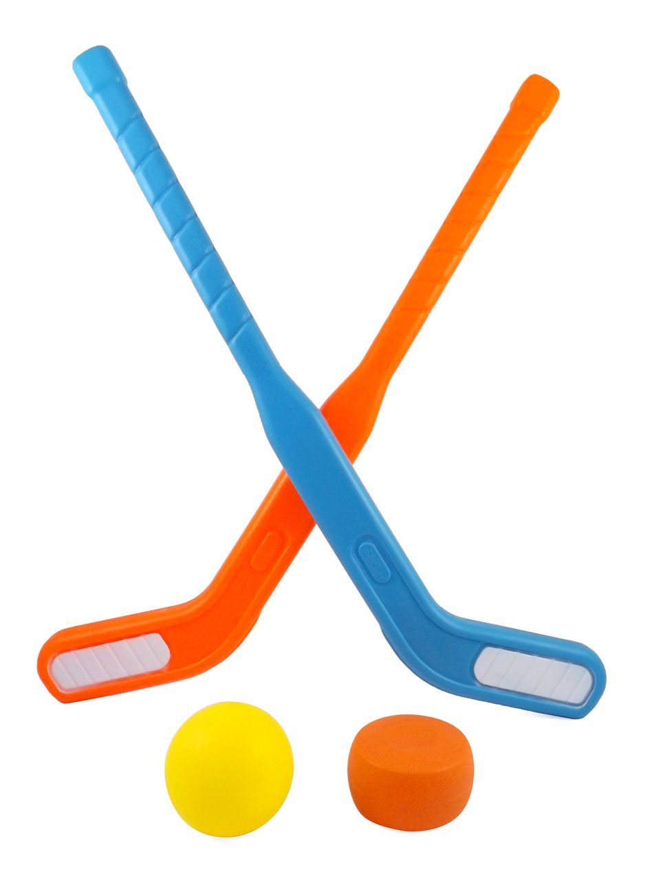 Liberty Imports Face Off Dual Hockey Sticks Youth Sports Set for Kids Puck and Ball (1 Pack) by Liberty Imports