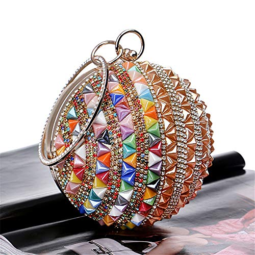Evening Handbags Party Purse Clutch Frosted Blue for Women Handbag Purse Multi Wedding Bag Techecho Clutches Bridal colored Color Clutch Crystal ZzIqwnAvxg
