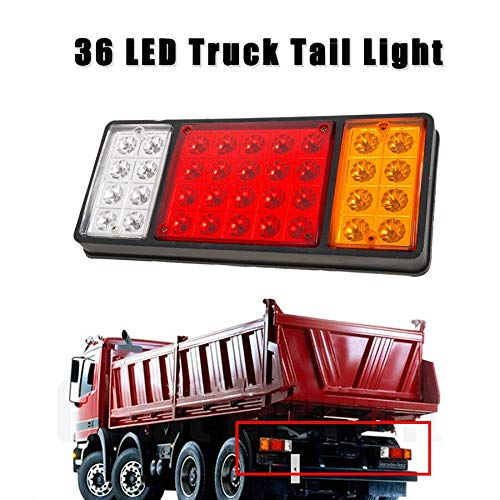 Abbey Stores - 12V 36LED 3 Colors Tail Light Rear Indicator Lamp Caravan For Truck Trailer Waterproof