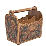 NOVICA Leather Animal Themed Accessories Furniture 13.75'' Tall, Multicolor, 'Fantastic Birds'
