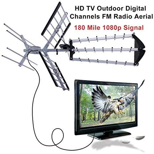 180 Mile HDTV 1080p Outdoor Amplified HD TV Antenna Digital UHF/VHF FM Radio USA by wang tong shop (Image #2)