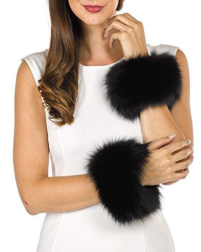 Fur Slap on Cuffs - Black Fox Fur by Frr (Image #4)