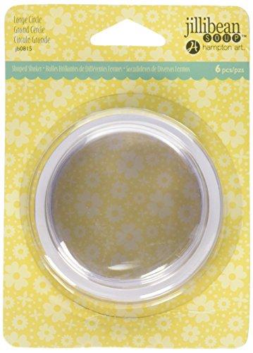 Hampton Art JB0815 Jillibean Soup PVC Card Shakers (6 Pack), Large Circle, Clear