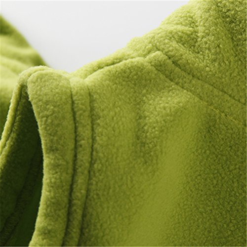 UWESPRING Little Boy Vests Autumn Summer Fleece Solid Pocket Size 6 Green