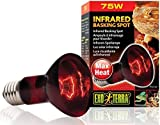 Exo Terra Heat-Glo Infrared Spot Lamp, 75-Watt/120...
