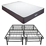 Classic Brands Cool Gel Ventilated Gel Memory Foam 10.5-Inch Mattress with Hercules 14-Inch Heavy-Duty Metal Platform Bed Frame, California King