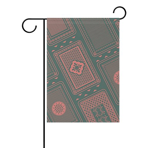 """LEISISI Playing Card Back Pattern Garden flag 28""""X40"""" Two Si"""