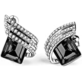 Shining Diva Fashion AAA High Quality Silver Plated Stylish Party Wear Earrings For Women & Girls