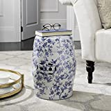 Add a classic accent your garden, patio, deck, or any indoor room with the Safavieh Castle Gardens Collection Blue Birds Blue Ceramic Garden Stool. Handmade of quality ceramics, this stool can be used outside or inside as an extra seat, foot ...