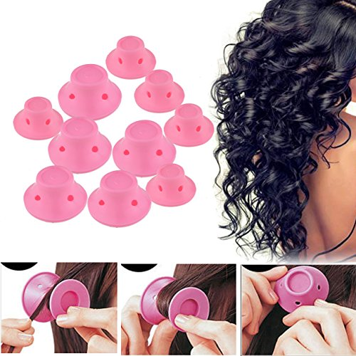 Wave Silicone (20 Pack DTTUN Hair Rollers Silicone Self Grip No Clip No Damage DIY Hairstyle Tools)