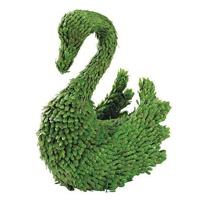 Swan Topiary (Design Toscano European Style Sculptural Swan Rabbit Topiary)