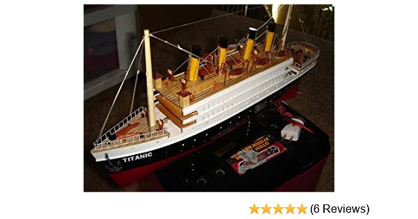 """Titanic wooden model cruise ship with flashing light 16/"""" fully assembly"""
