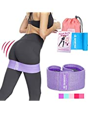 Shinyee Booty Hip Bands High Resistance Workout Exercise Glute Band Women,Fitness Gym Loop Circle Legs Butt,Non Slip No Roll Soft Fabric Heavy Duty Bootie Training Wide Band Hip Up