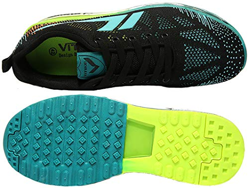 Unisex Luftpolster Damen Atmungsaktives mit Sportschuhe Sneakers Herren Turnschuhe 5 Laufschuhe Ultra blau Freizeitschuhe VITIKE Light AwqxEYRn