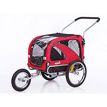 Image of Pet Supplies Sepnine 2 in1 Medium pet Dog Bike Trailer Bicycle Trailer and Jogger 10201