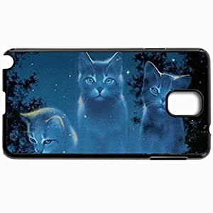 Personalized Protective Hardshell Back Hardcover For Samsung Note 3, Cat Spectrum Design In Black Case Color