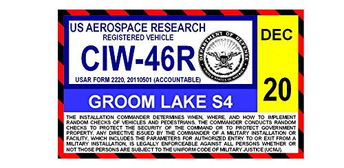 Groom Lake AFB Area S4 Parking Decal (Area 51)