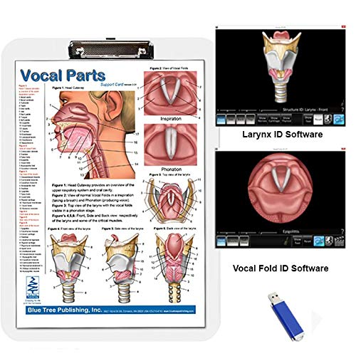 (Vocal Parts Insert Clipboard with Larynx and Vocal fold Animation Software)