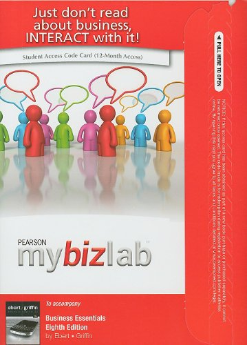 MyBizLab -- Access Card -- for Business Essentials (8th Edition)