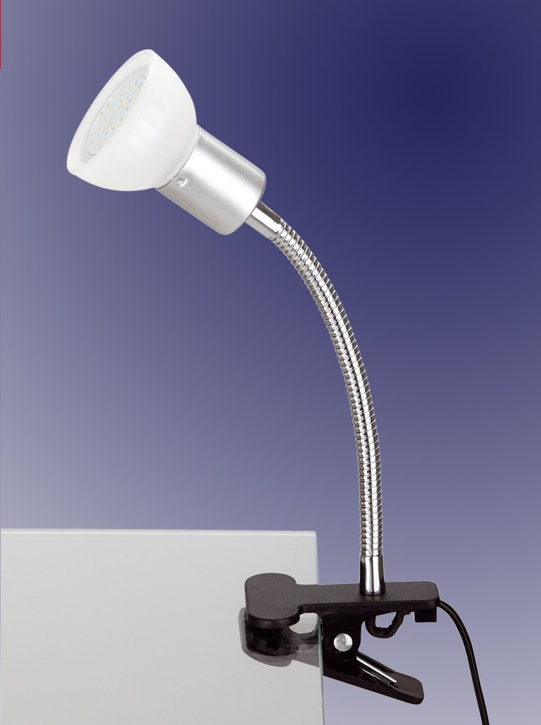 Trango/® LED Lampada da lettura Spot con clip incluso 1/X GU10/LED Lampadina tg2989 moderno Glas in Blau