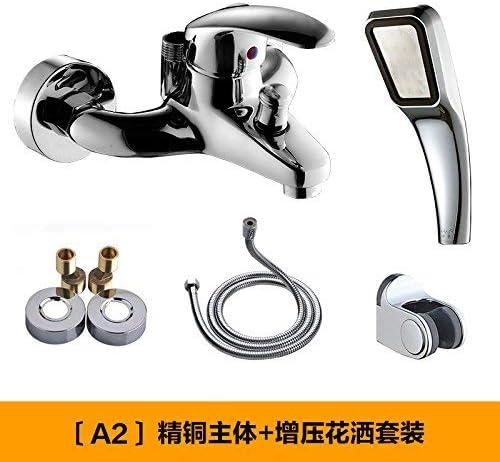 CLJ-LJ ダブルフラッシュとの混合弁温水シャワー入浴銅トリプルタップ給湯器、AモノマーブースターシャワーセットとA2