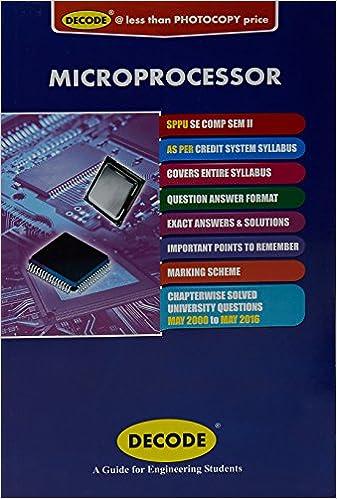 Amazon in: Buy Decode- Microprocessor : S E  (Computer) Sem - Ii, Pb