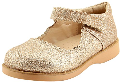 The Doll Maker Girl`s Classic Mary Jane- (Gold Mary Jane Shoes)