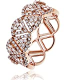 0.65CTS Certified G/VS2 Brilliant Cut Diamond Triangle Cluster Half Eternity Ring in 18k Rose Gold
