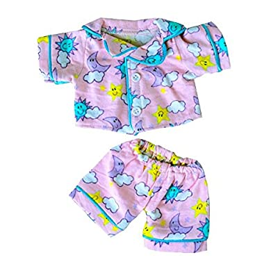 """Sunny Days Pink Flannel PJ's Clothing Fits Most 8""""-10"""" Webkinz, Shining Star and 8""""-10"""" Make Your Own Stuffed Animals: Toys & Games"""